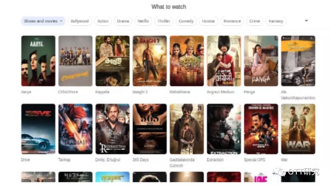 Google搜索引入了OTT检索功能 可轻松查找电视电影节目