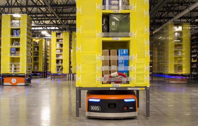 亚马逊仓库机器人总数增至4.5万台 同比增加50%