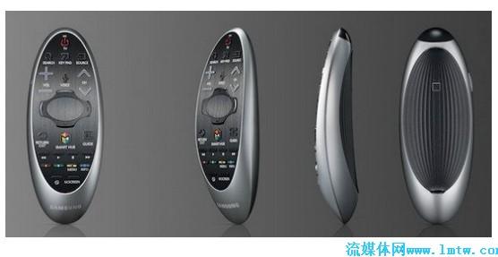 【流媒体网】摘要:智能电视作为一种全新形态的多媒体家电,在近年来获得了长足的发展,包括三星、LG、索尼等大厂以及众多国产品牌,都发布了各自的智能电视机型。  智能电视作为一种全新形态的多媒体家电,在近年来获得了长足的发展,包括三星、LG、索尼等大厂以及众多国产品牌,都发布了各自的智能电视机型。作为最早进入智能电视领域的三星,在刚刚过去的2013年发布了具有语音、动作控制的机型,获得了不俗的市场反应。而在近日,三星新款智能电视的遥控器也在互联网上曝光,预示着新款机型即将到来。 2014款的三星智能电视遥控,